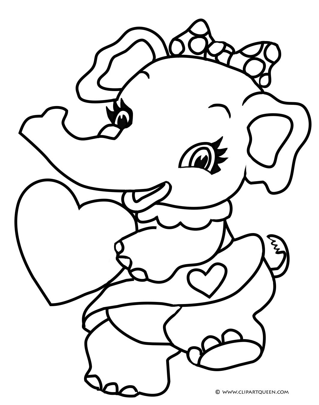1063x1352 Cute Elephant With Heart