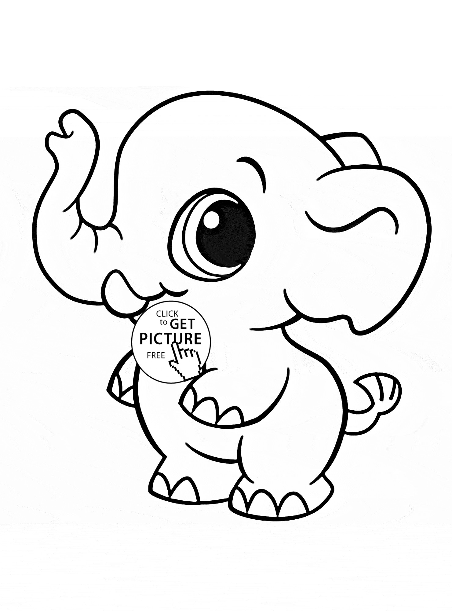 Printable Elephant Coloring Pages For Adults