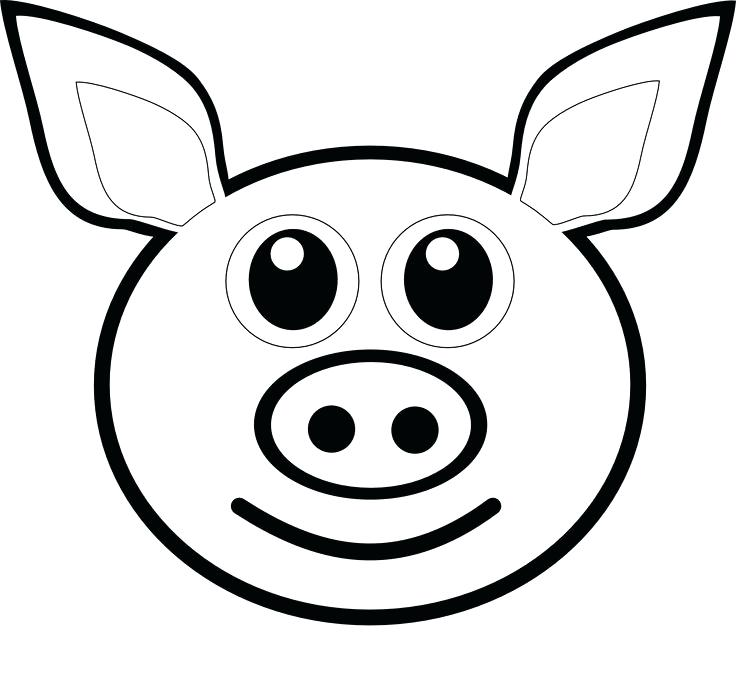 736x683 Pig Face Coloring Page Pig Emoji Coloring Pages Printable