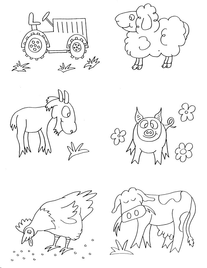 700x906 Farm Animals Coloring Pages Free Printable Grade