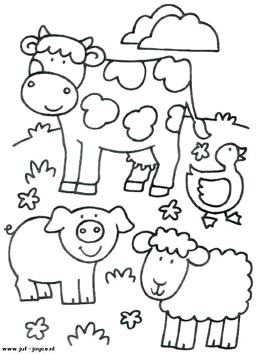 510x704 Farm Color Pages Barnyard Animals Coloring Pages Farm Animals