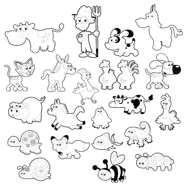 736x734 Free Farm Animal Coloring Pages
