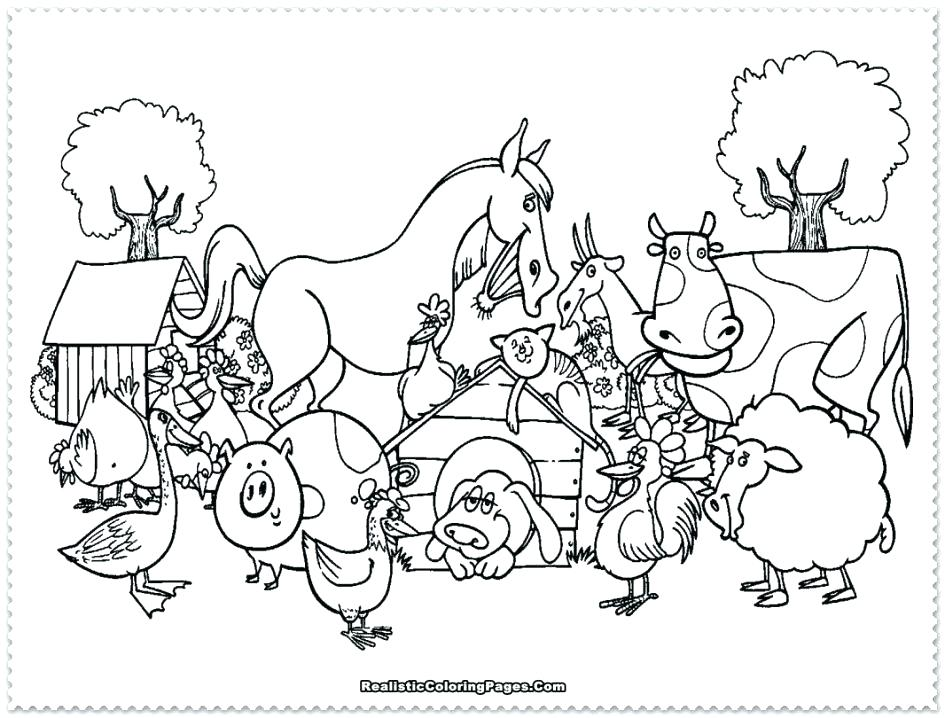 945x718 Free Farm Animal Coloring Pages Coloring Pages Of A Farm Farm