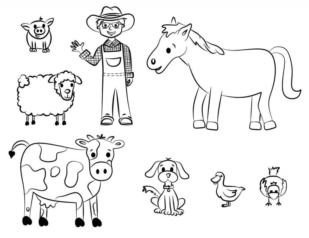 1024x791 Free Printable Farm Animal Coloring Pages For Kids Animales De