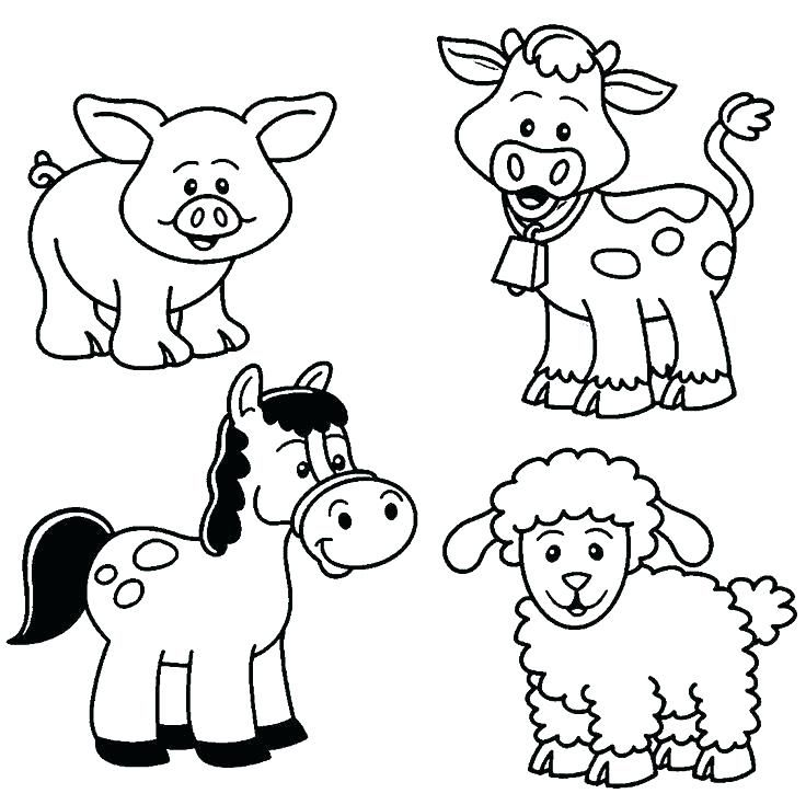 736x735 Animal Coloring Pages To Print Farm Animals Coloring Pages