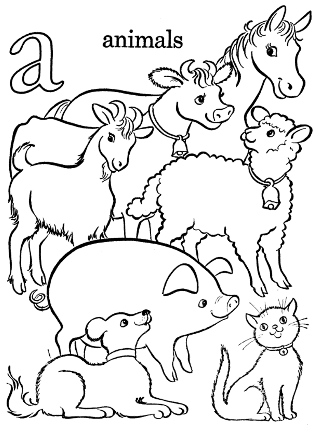 1137x1460 Printable Farm Animals Coloring Pages Old Macdonald Had A Farm