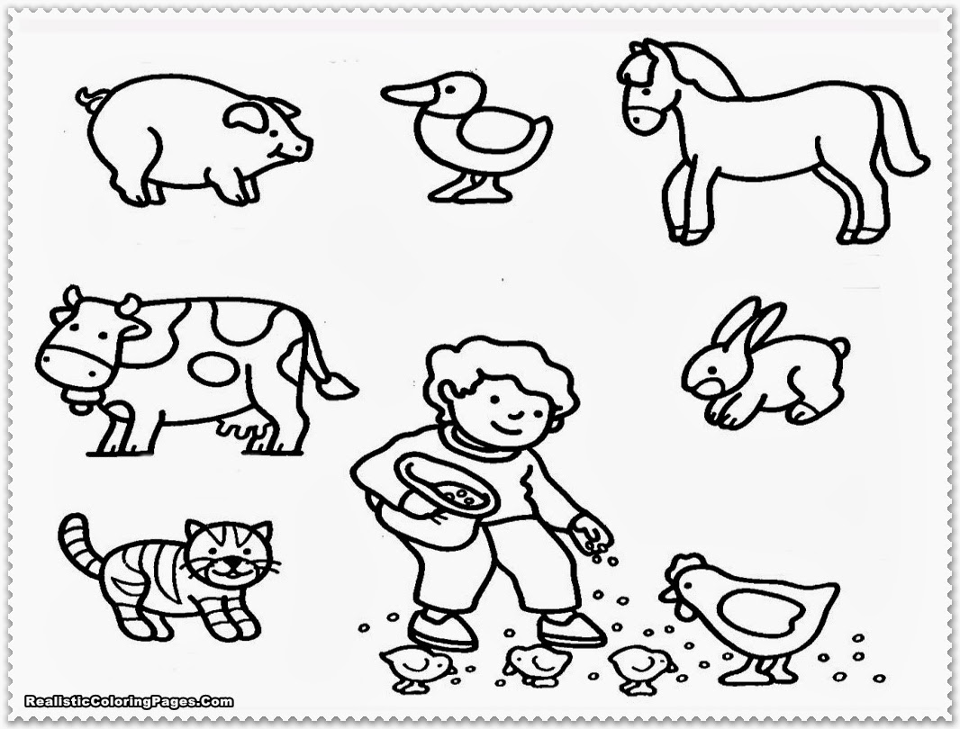 1066x810 Printable Colouring Pictures Of Farm Animals Farm Animal Coloring