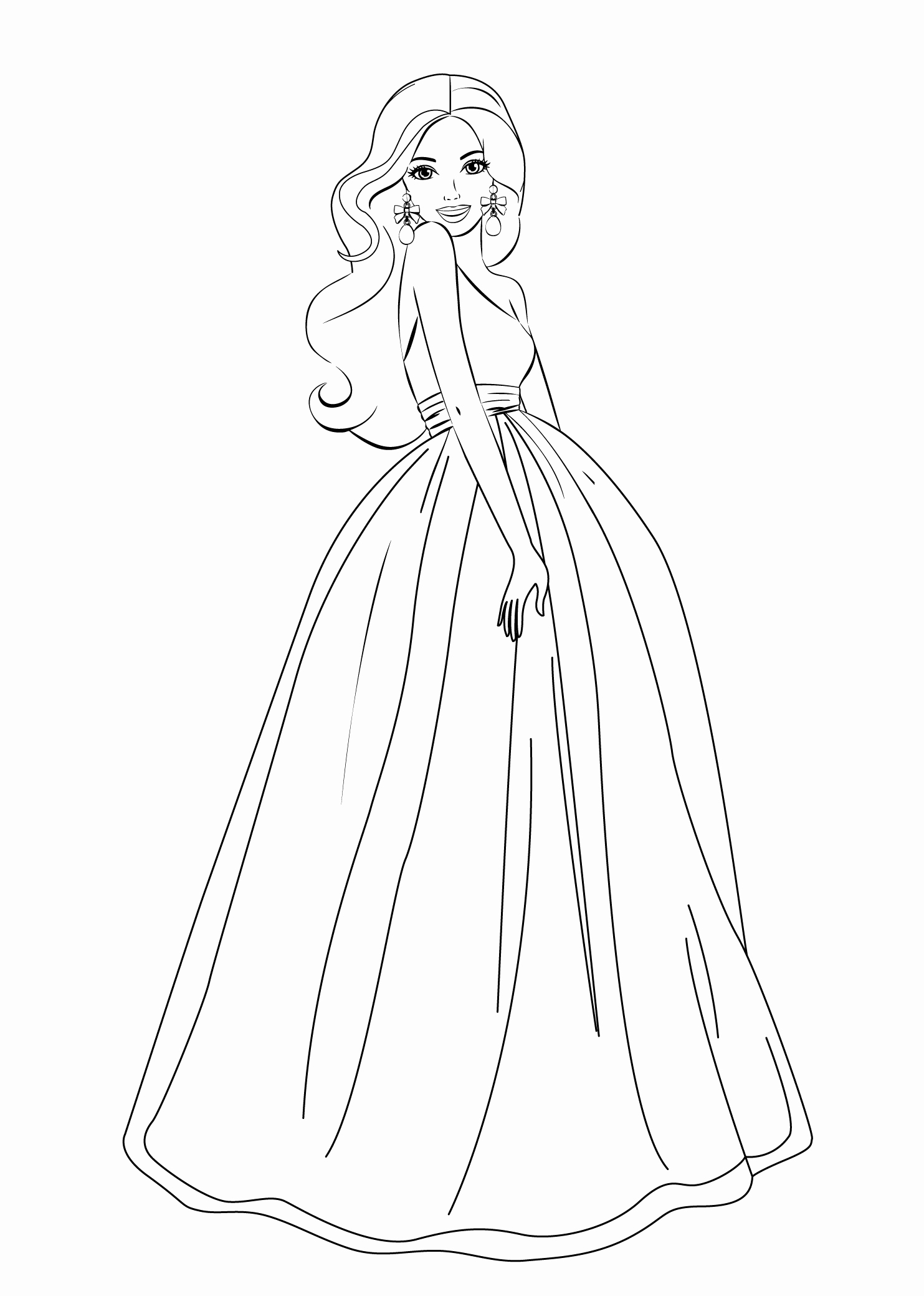 1483x2079 Fashion Coloring Pages Inspirational Barbie Coloring Pages