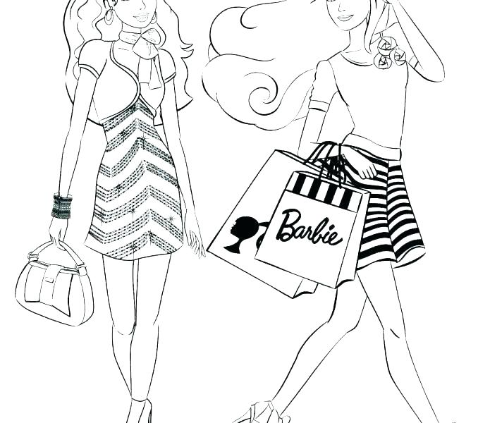 678x600 Fashion Coloring Pages Old Printable Barbie Fashion Coloring Pages