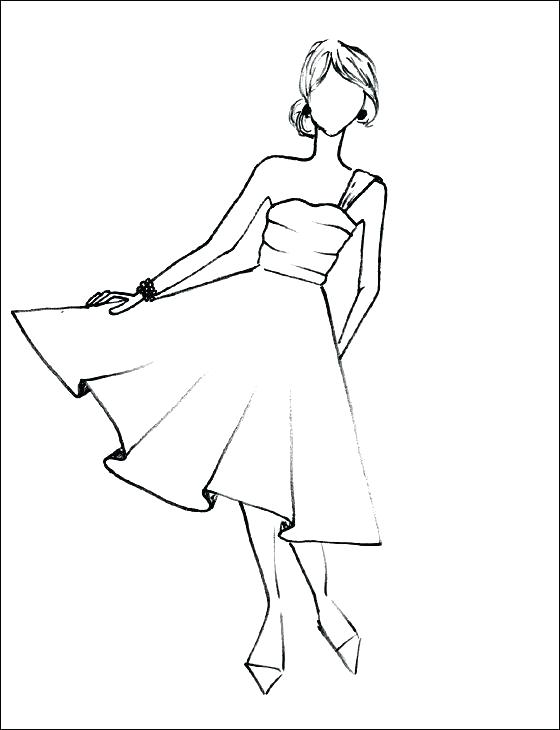 560x730 Fashion Model Coloring Pages Fashion Coloring Pages To Print