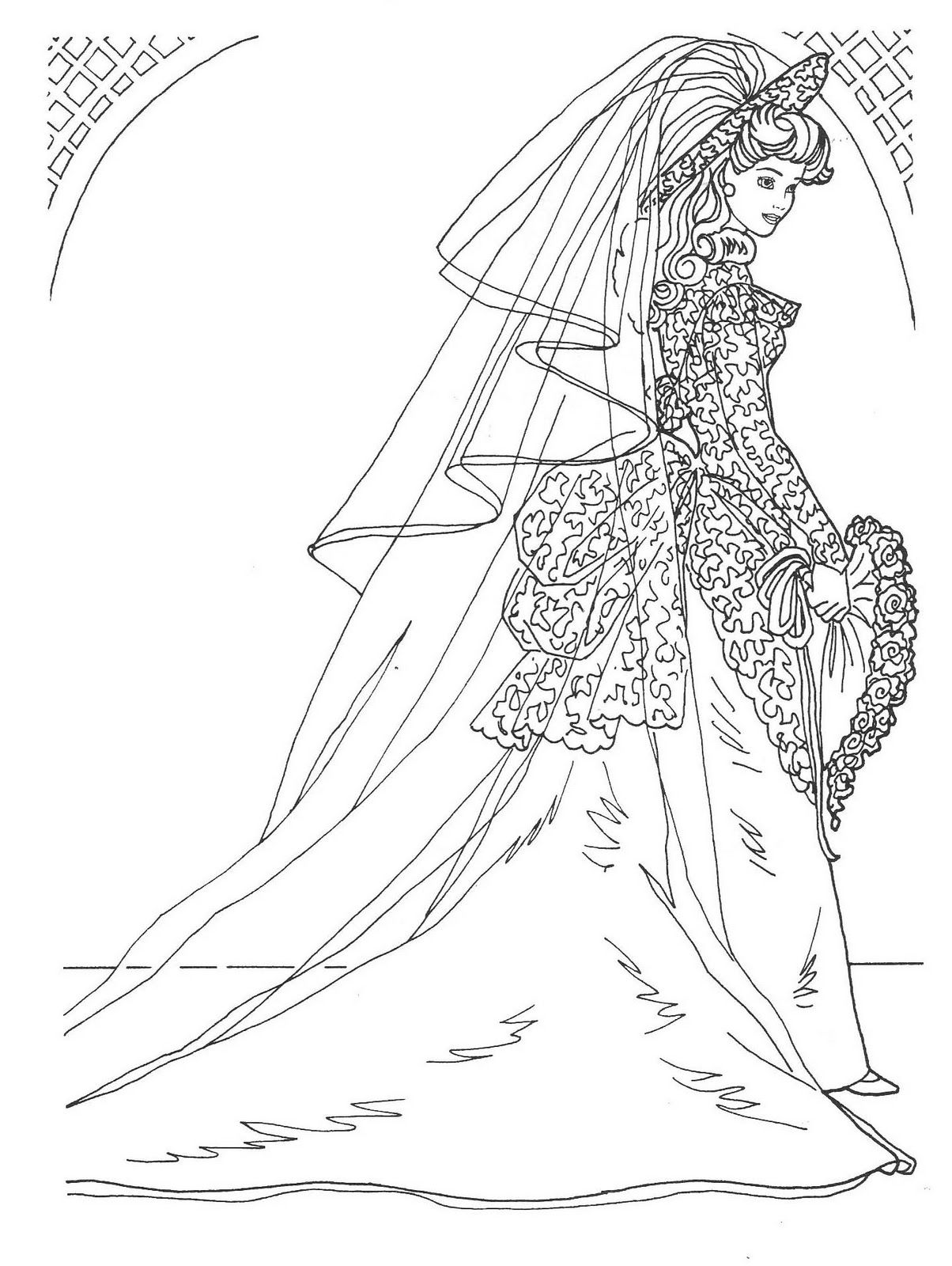 1204x1600 Fashion Coloring Pages Coloring Pages Wedding Day Barbie