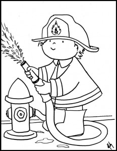 232x300 Printable Firefighter Coloring Pages Print Color Craft