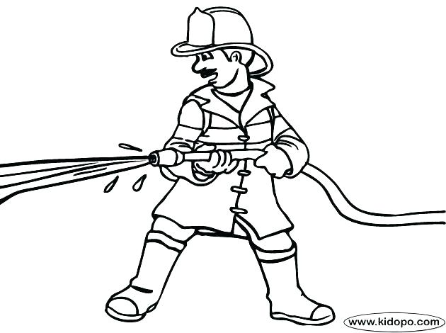 630x470 Firefighter Coloring Pages Printable Fireman Coloring Sheet