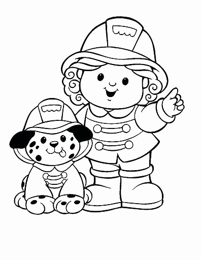 396x512 Firefighter Coloring Pages Printable Free Printable Fireman Thank
