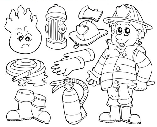 500x407 Firefighter Coloring Pages Printable Fireman Coloring Pages Free