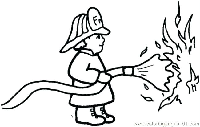 Printable Firefighter Coloring Pages At Getdrawings Com Free For