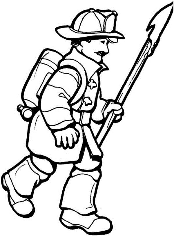 600x811 Free Printable Firefighter Coloring Pages For Kids