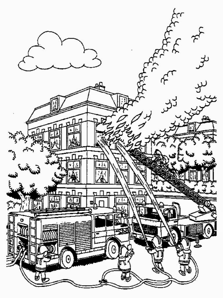 768x1024 Free Printable Fireman Coloring Pages Black And White