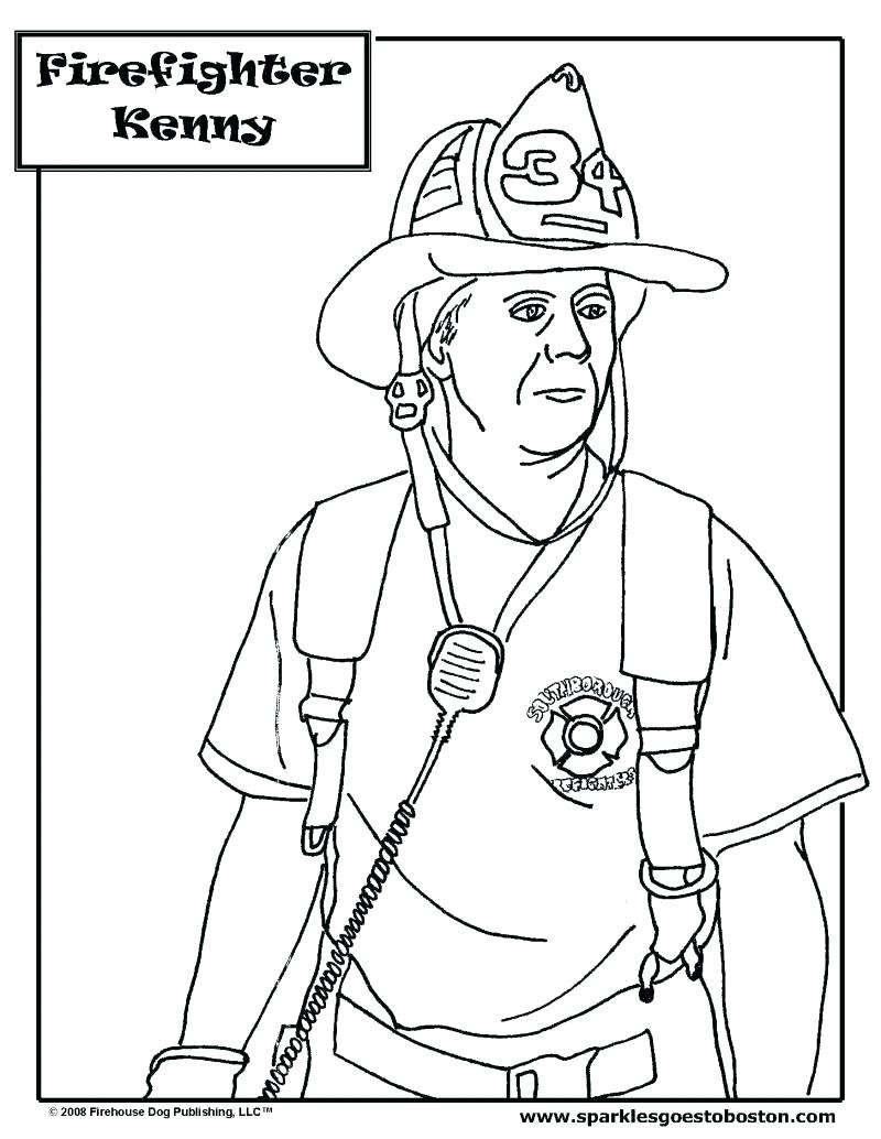 800x1034 Coloring Pages Fireman Coloring Pages Printable Firefighter Pdf