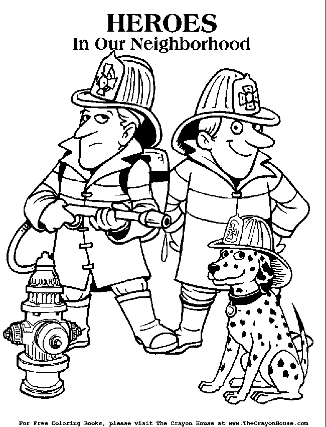 650x850 Fire Coloring Pages Printable Easy Firefighter Coloring Page
