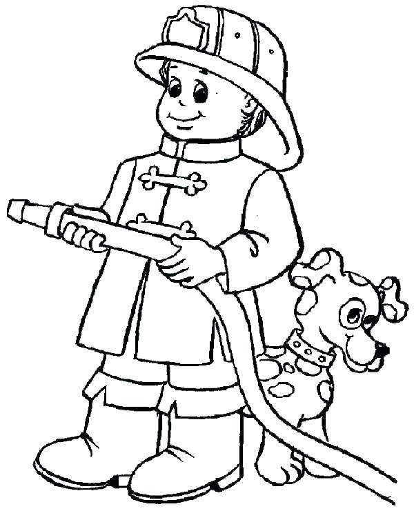 600x741 Fire Department Coloring Pages Firefighter Coloring Books