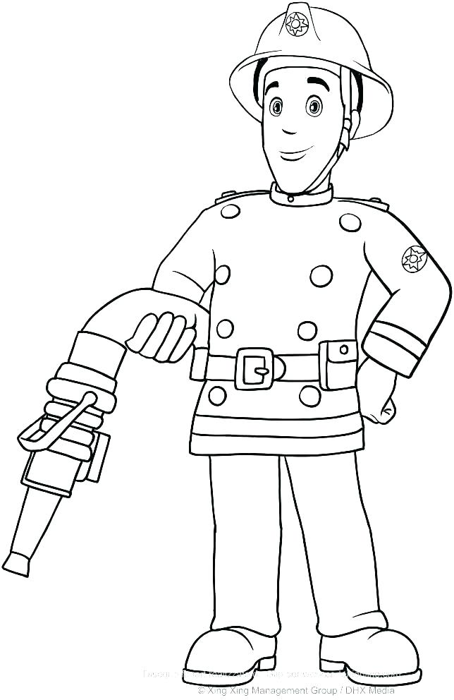644x992 Fire Fighter Coloring Page Printable Fireman Coloring Pages Fire
