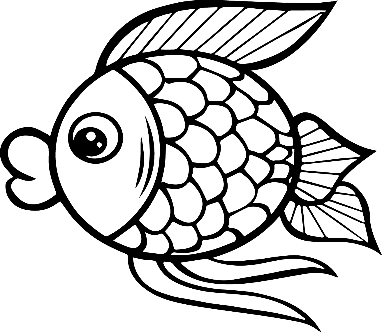 Printable Fish Coloring Pages At Getdrawings Com Free For