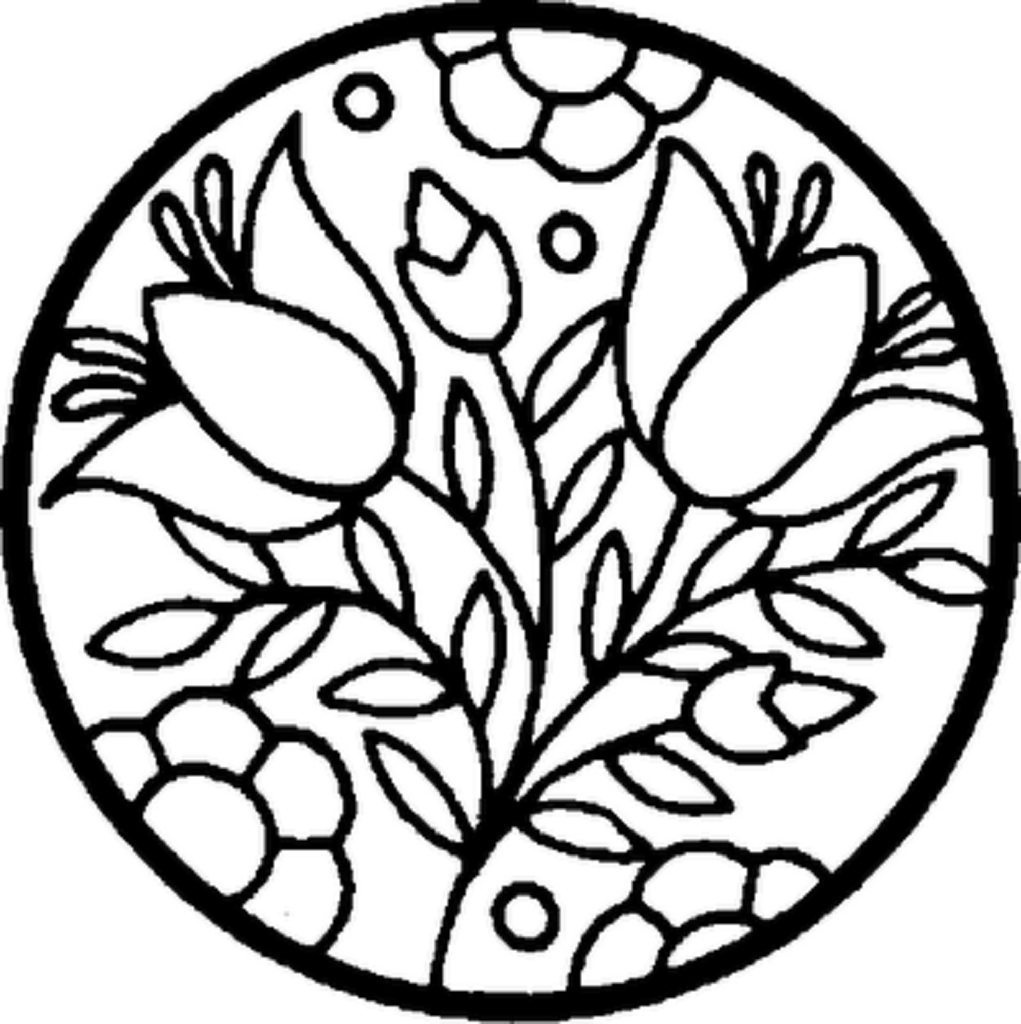 Printable Flower Coloring Pages at GetDrawings | Free download
