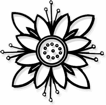 Printable Flower Coloring Pages at GetDrawings.com | Free ...