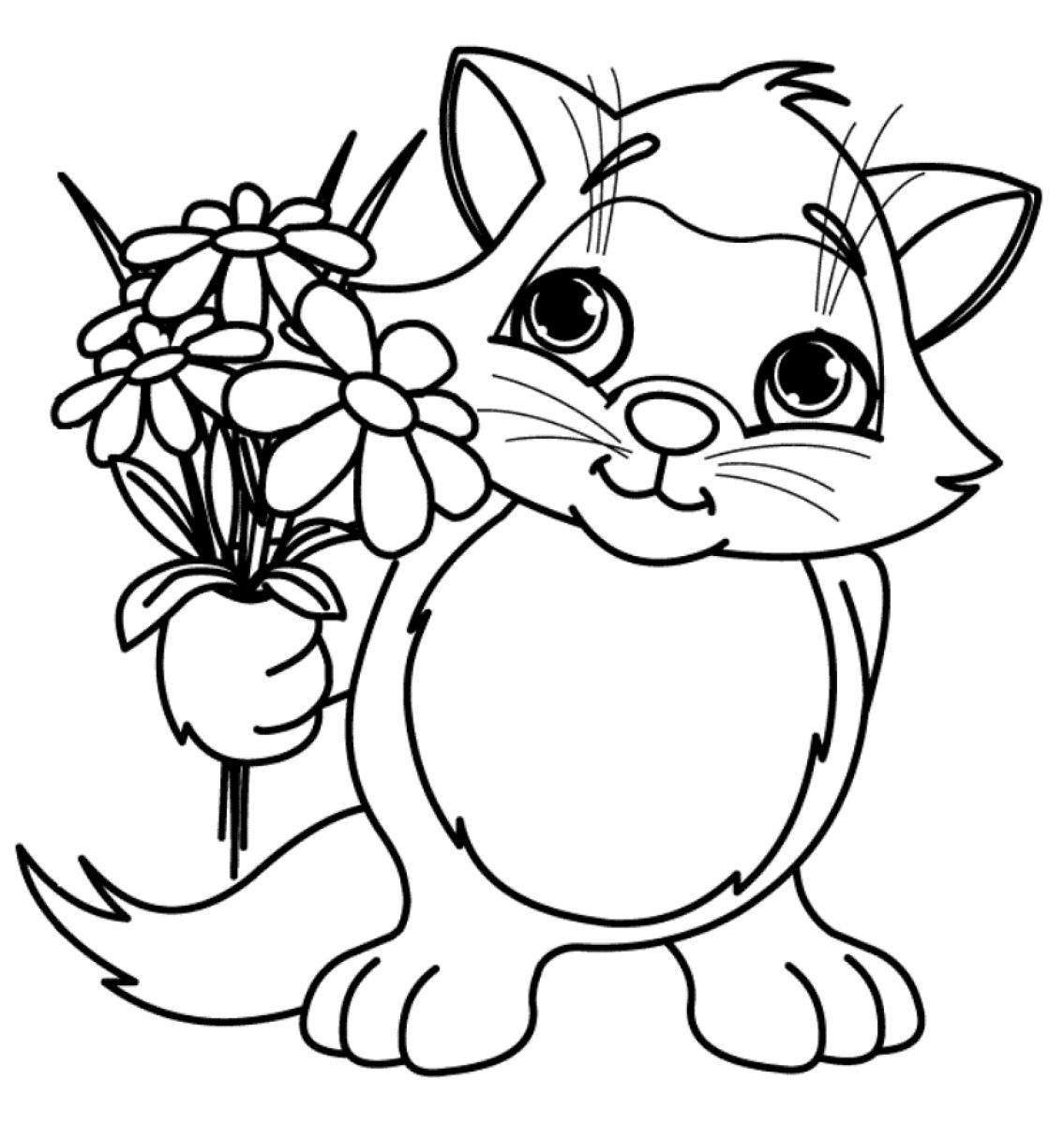 Printable Flower Coloring Pages For Kids at GetDrawings.com ...