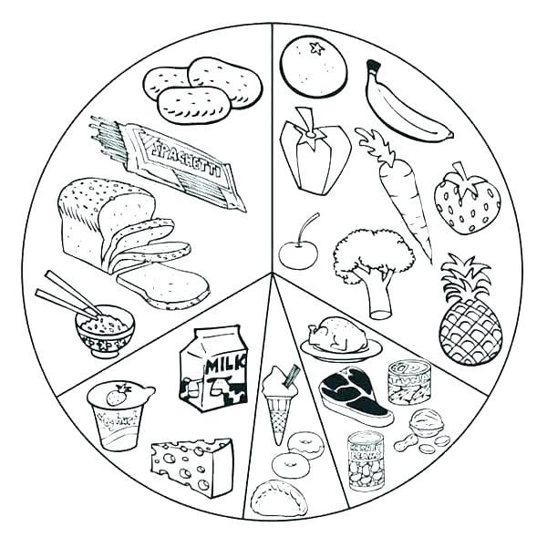 600x601 Food Pyramid Coloring Page Free Printable Food Pyramid Coloring