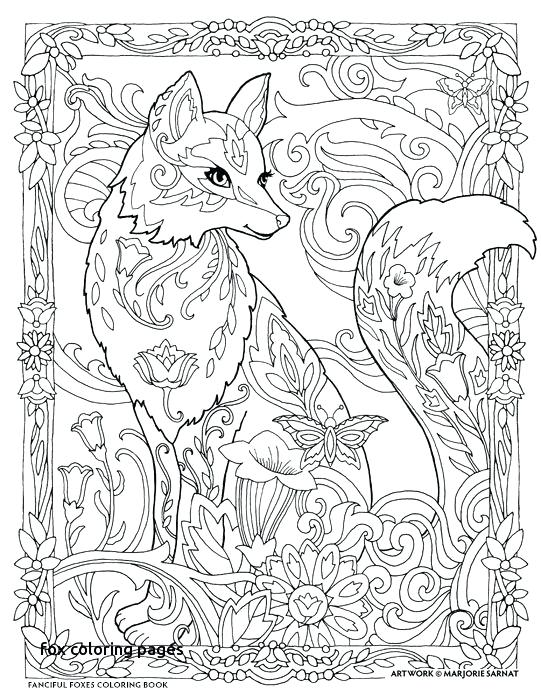 541x700 Fox Coloring Pages Best Color Pages Images On For Fox Coloring