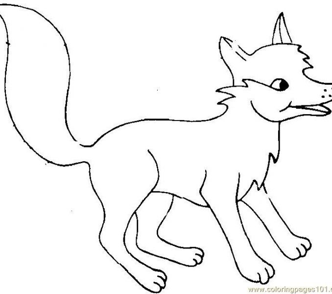 678x600 Fox Coloring Cute Coloring Pages Coloring Pages