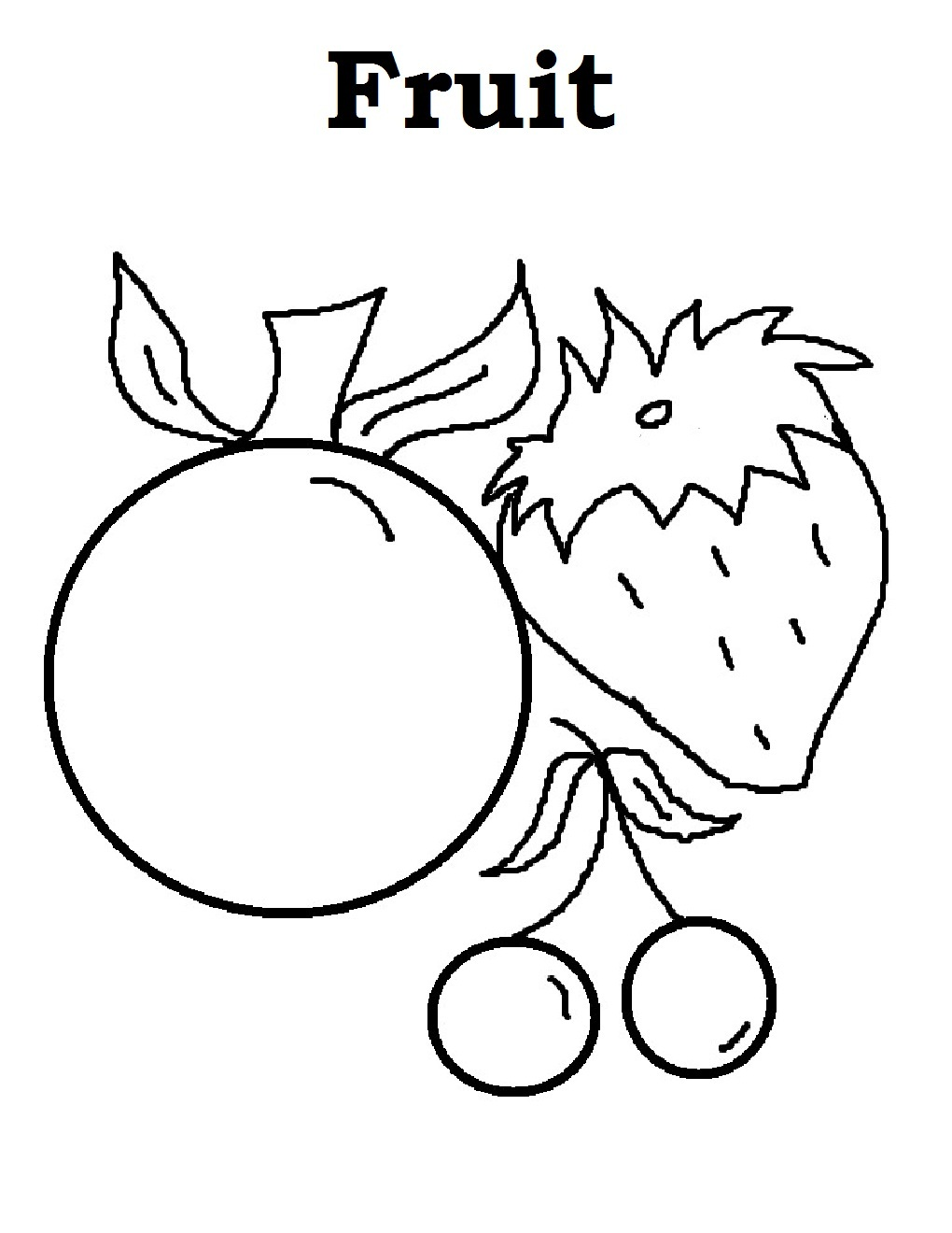 1020x1320 free printable fruit coloring pages for kids