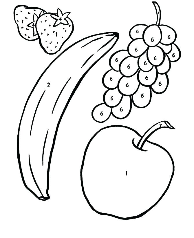 670x820 Fresh Fruit Coloring Page Fresh Fruit Coloring Page Fruit