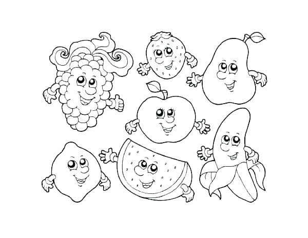 Printable Fruit Coloring Pages At Getdrawings Free Download