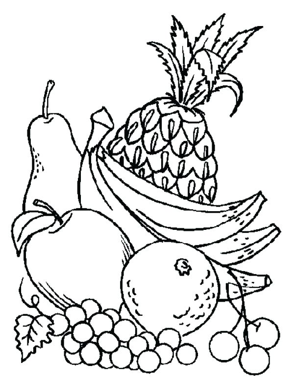 Fruits Drawing For Colouring at GetDrawings.com | Free for ...
