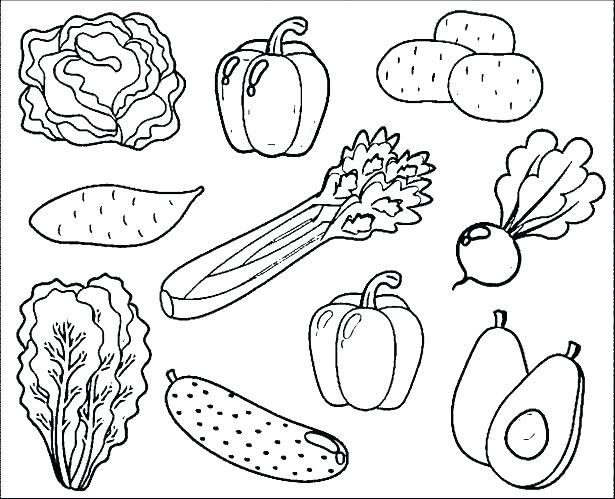 Printable Fruits And Vegetables Coloring Pages At Getdrawings Free Download