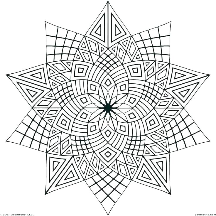 Printable Geometric Coloring Pages at GetDrawings.com | Free ...