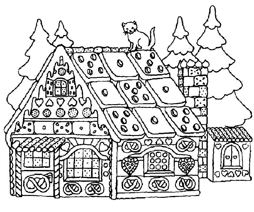 823x686 Gingerbread House Coloring Page Beautiful Printable Gingerbread