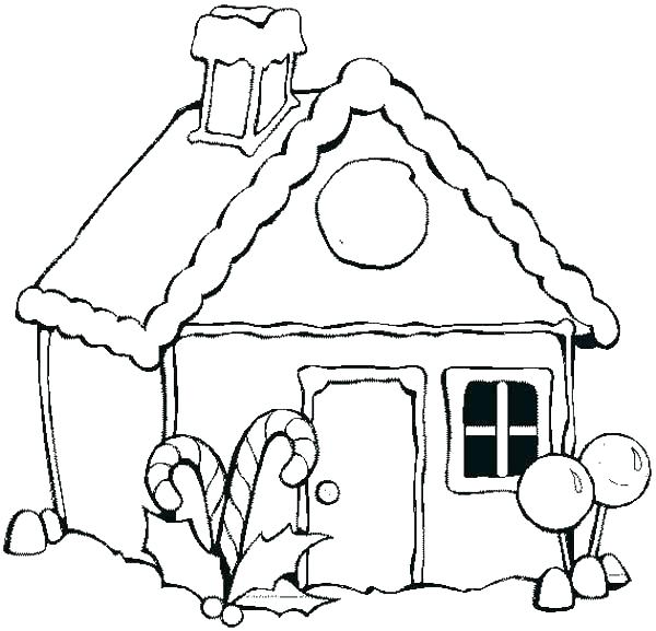 600x577 Gingerbread House Coloring Page House Coloring Pages With Royal