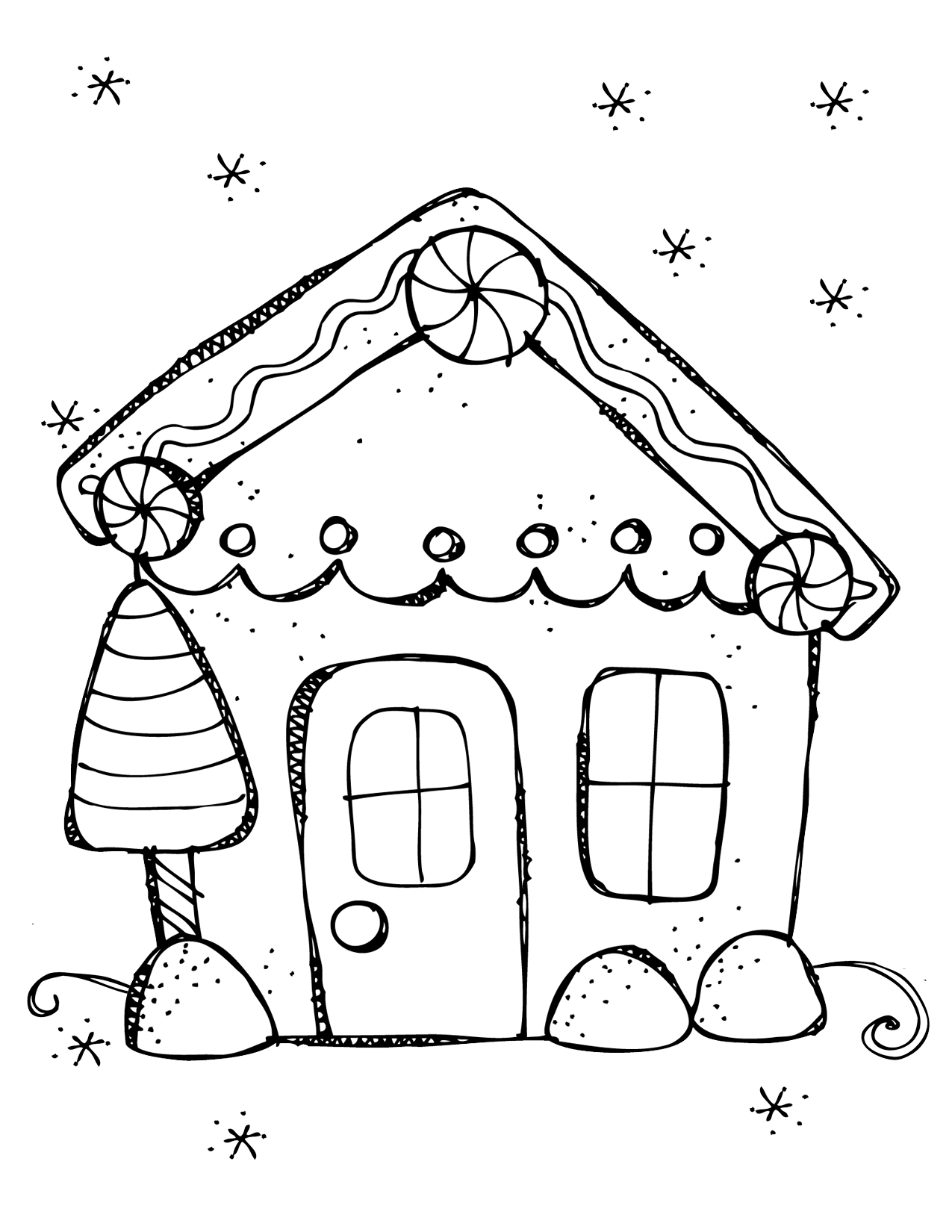 1275x1650 Gingerbread House Coloring Page Young Rembrandts Shop Collection