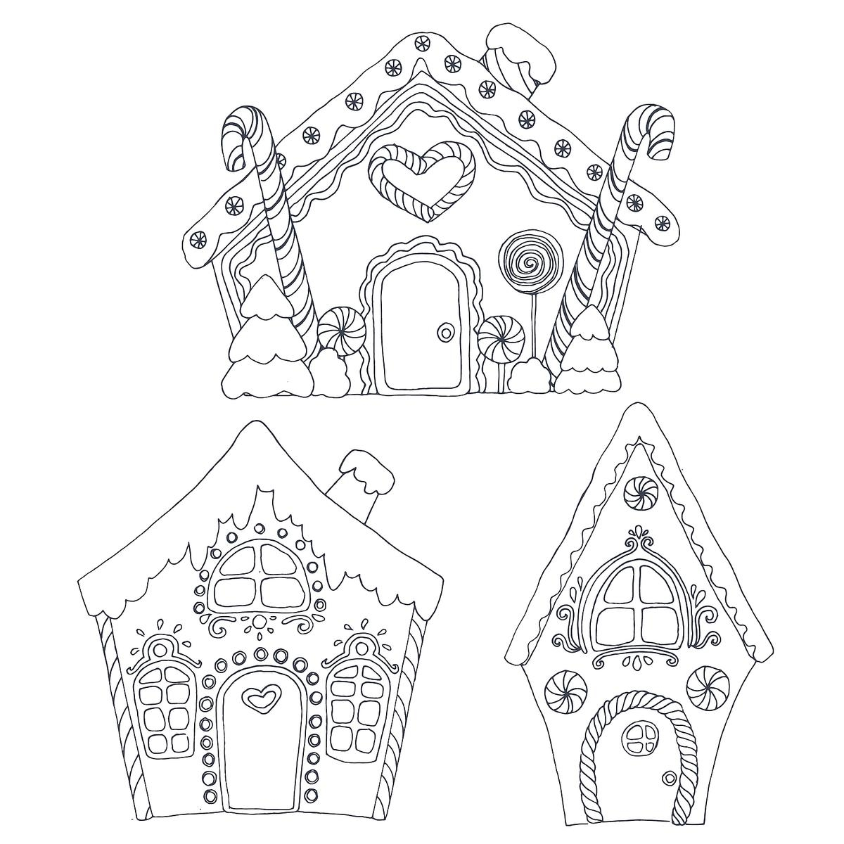 1200x1200 Gingerbread House Coloring Pages Printable Coloring Activity New