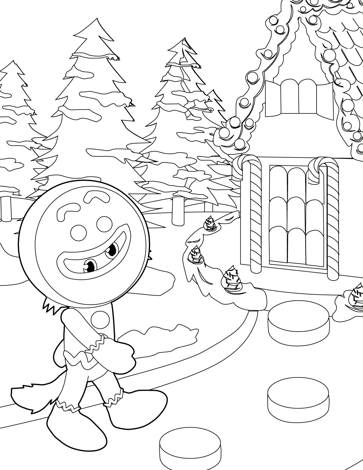 1275x1650 Gingerbread House Coloring Pages Printable For Kids Pictures