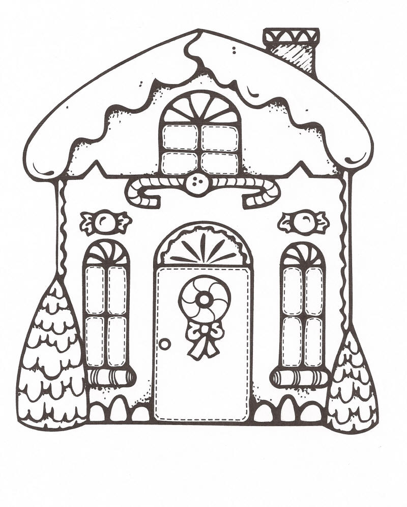 800x995 Gingerbread House Coloring Pages Free Printable
