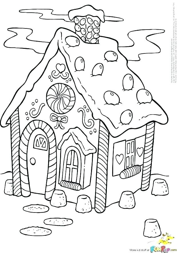 618x881 House Color Page Printable Detailed Coloring Pages Gingerbread
