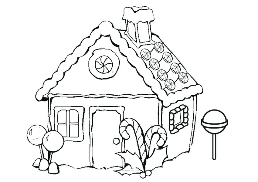 850x600 House Coloring Pages Printable House Color Page Free Gingerbread