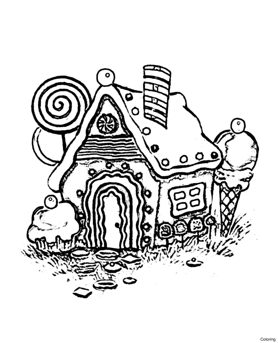 1170x1439 Printable Christmas Gingerbread House Coloring Pages Best