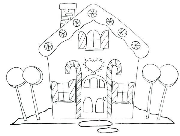600x454 Customized Coloring Pages Gingerbread House Coloring Pages Free