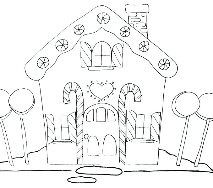 678x600 Free Gingerbread House Coloring Pages